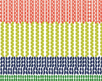 Beans Navy: Gabbie Collection from Maude Asbury for Blend Fabrics. 1 Yard Cut