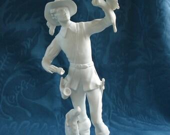 Kaiser Falconer Bisque Sculpture