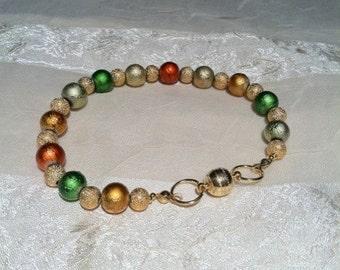Glowing Autumn Bracelet Handmade Jewelry