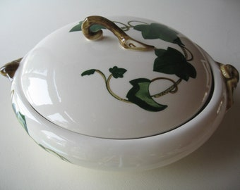 Serving Bowl, Country Kitchen, Metlox Bowl, Poppytrail, Ivy Design, Covered Dish