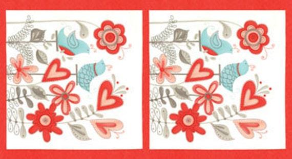 Flirt Fabric Panel (Valentine's Day) by Sandy Gervais