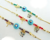7 Wholesale bracelets - evil eye dragonfly butterfly bracelets, wholesale jewelry, evil eye jewelry, wholesale accesories, wristband