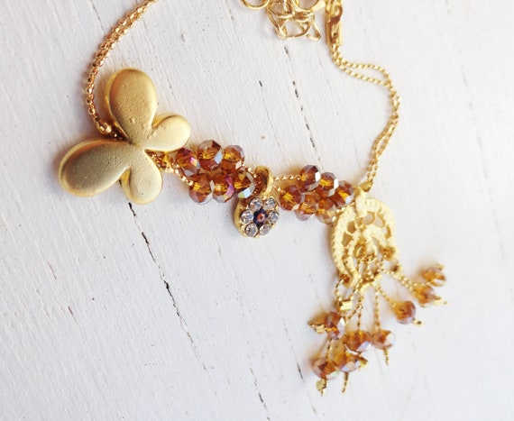 Butterfly bracelet - swarovski, evil eye, fancy, bright, clear crystal, shiny, animal, christmas, xmas, jewelry, wholesale,