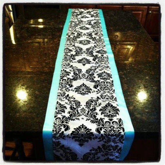 Items Similar To Tiffany Blue And Black And White Velvet