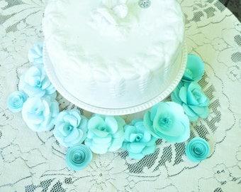 Mint Paper Flowers Wedding Centerpiece, table decor, colorful wedding centerpiece