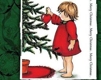 LOVING CHRISTMAS -   Christmas Stamping Set by SHEENA DOUGLaS -   Xmas Tree