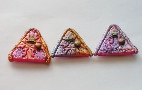 Triangle Fairy Doors Miniature Magnets set of 3