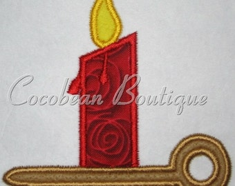 embroidery applique candle