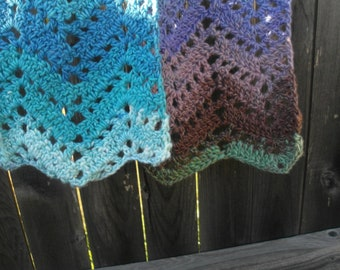 Lavendar, Grey and Blue Scarf
