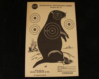 Vintage Woodchuck Target no. 8 by Sears