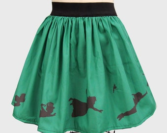 Green Nostalgia Inspired Border Full Skirt