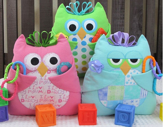 Baby Who Owl Pillow/Toy w/ Pockets Pattern to by ...