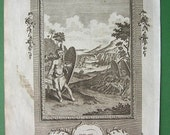 1783 Folio Antique Print - the Jagas People of Africa Arms Dress and Manner of Fighting