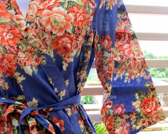 Personalized Kimono robe - bridesmaids, maid of honor, spa robe, beach cover up, dressing up robe, maternity