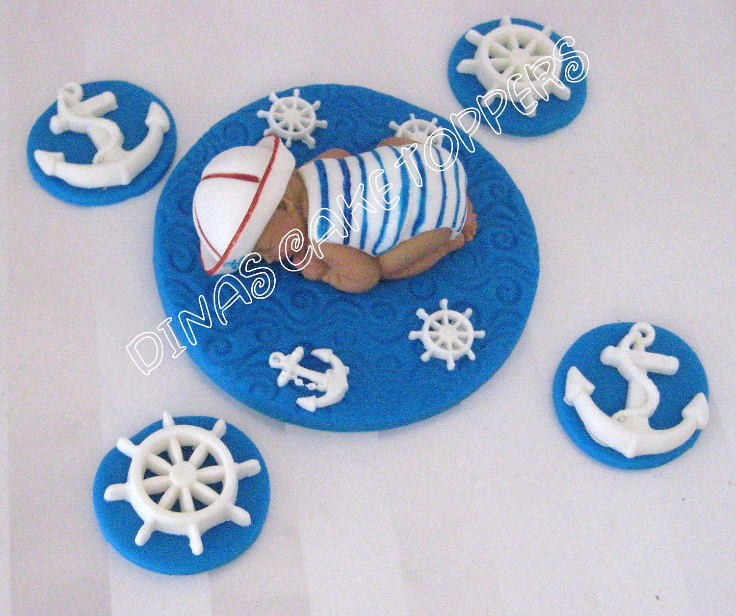Sailor Nautical Baby Cake Topper Baby Shower By DinasCakeToppers