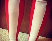 Wonder Woman inspired calf sleeves