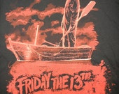 Fully customizable ladies Friday the 13 Jason Voorhees shirt - any style you desire. Horror movie / diy / upcycled shirt.