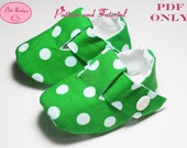 Baby shoe pattern - Green White Polka Dot Emme Shoes