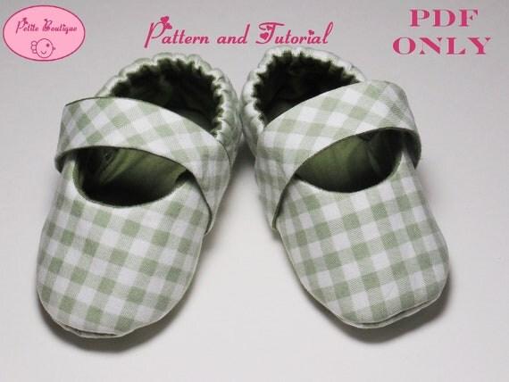 Baby shoe pattern - Classic Mary Jane