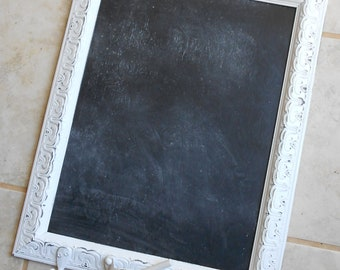 Rustic Decor Frame/Magnetic Chalkboard/Shabby Chic Kitchen Chalkboard/Wedding Chalkboard/framed chalkboard/farmhouse decor/Memo board