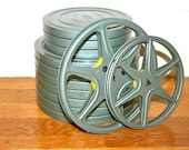 Vintage 8mm Film Reels with Canisters