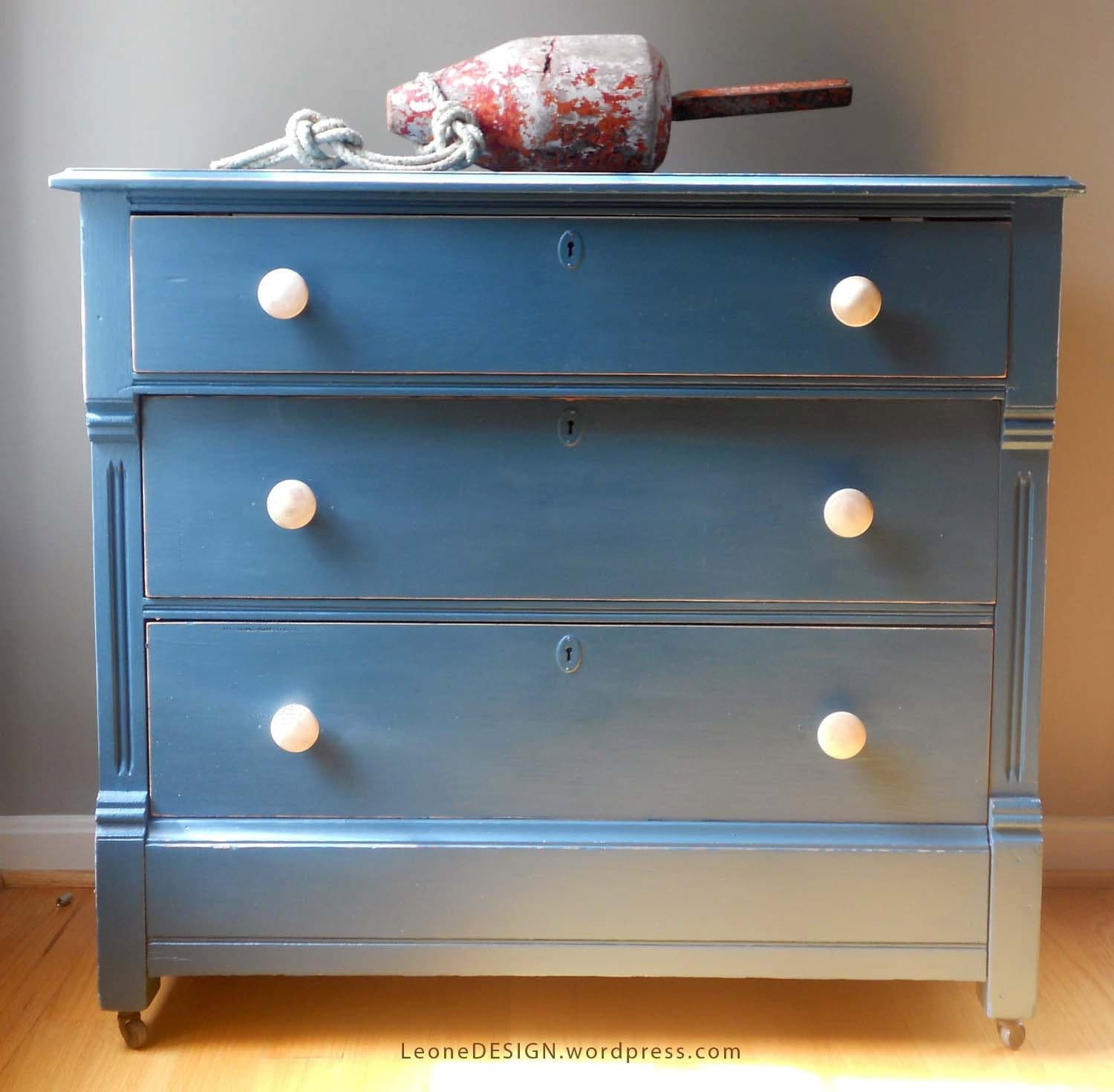 Painted Dresser Distressed Peacock Color 19 By MarthaLeoneDesign
