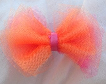 Tulle Hair Bow, Available in MANY Colors