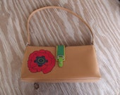 Hand Painted Poppy purse