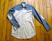 Shirt Unique Piece Beige & Blue by HiLoSoFia