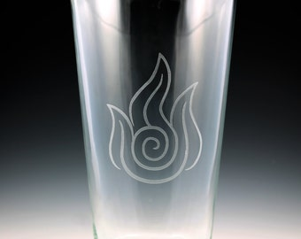 Avatar The Last Airbender - Legend of Korra Fire Nation Pint Glass