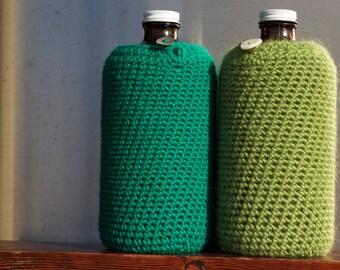 Emerald City Growlette Cozy in Oz Green Wool