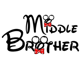Disney Middle Brother Iron on Transfer Decal (iron on transfer, not digital download)
