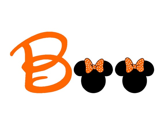Custom Disney Minnie Boo Halloween Iron on Transfer Decaliron
