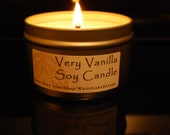 8 oz Tin Very Vanilla Hand Poured Soy Candle