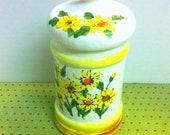 Sears Roebuck 1976 Yellow Daisy Canister/ Jar