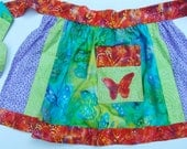 Half Apron w/ Butterfly Applique