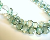 Statement Necklace Mystic Green Quartz Crystal Quartz and Fluorite