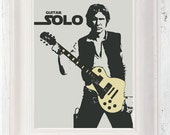 Guitar Han Solo Star Wars Poster A3
