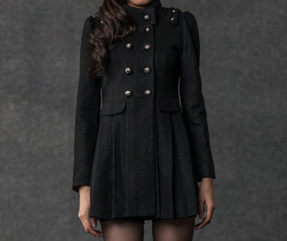 wool coat  double breasted jacket(099)