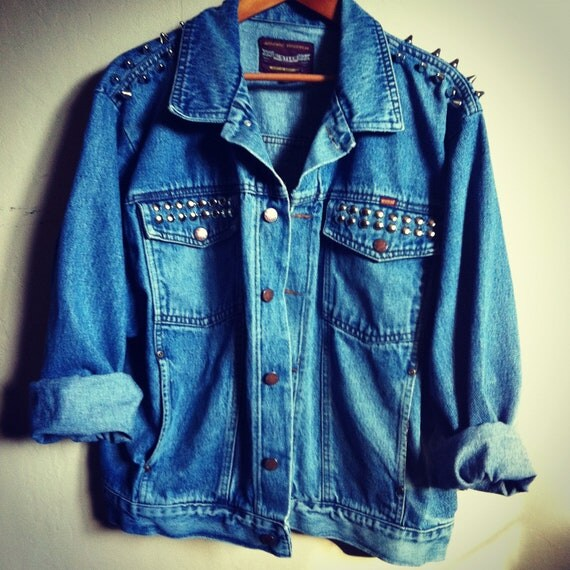 HIPSTER Spiked / Studded Denim Jacket