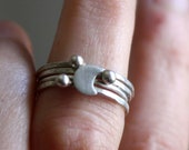 Star moon silver rings, stacking astronomy rings, romantic and delicate, feminine, sophisticated French rings, Andromeda