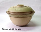 Lemon Grass, Stoneware Garlic Pot