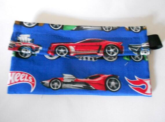Hotwheels Car Reusable Snack bag