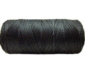 Waxed Polyester Cord - 1 spool - Jewelry Cord - Macrame Cord - Black