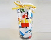 Personalized Sippy Cup With Trucks For Toddlers - Primary Colors