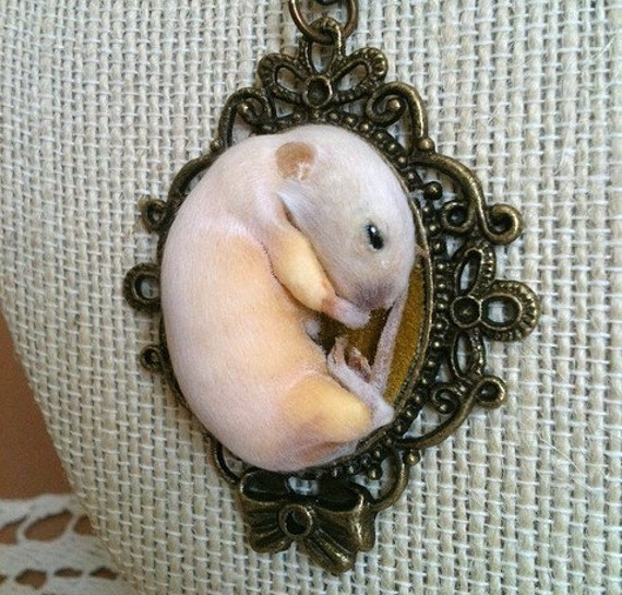Kitten Mouse Necklace