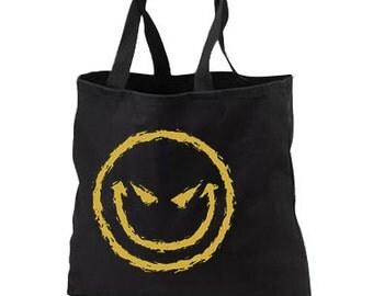 Wicked Smiley New Black Tote Bag, All Purpose, Cool Unique