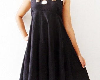 Rose Dress Long  Sweet Black mini Maxi cotton Dress/Prom Dresses/Summer Dress/Party Long Dress