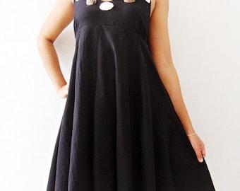 Rose Dress Long  Sweet Black mini Maxi cotton Dress/Prom Dresses/Summer Dress/Party Long Dress