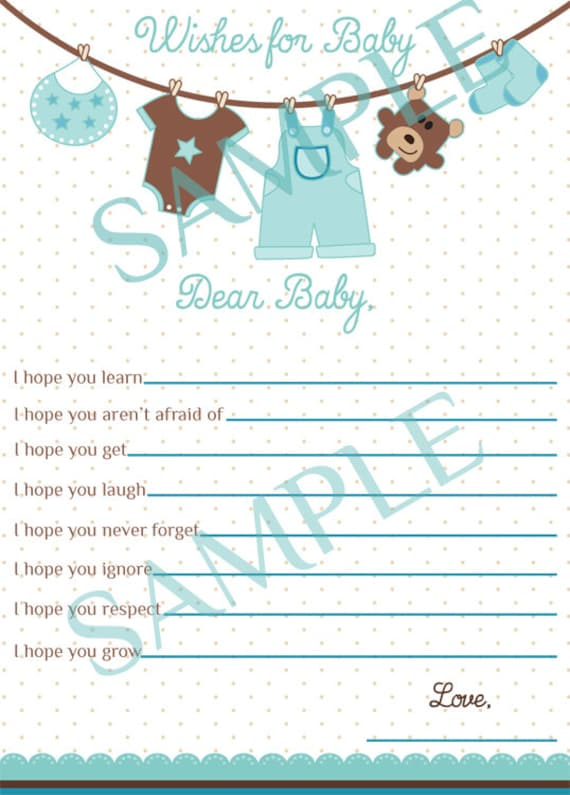 wishes for baby card boy baby shower wishes for baby boy clothes